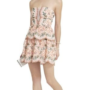BCBGMAXAZRIA Guiliana Dress Floral Dusty Pink 2
